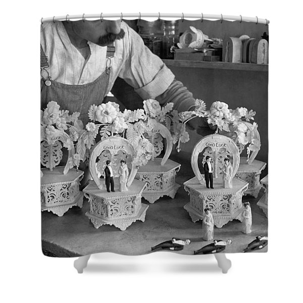 Making Wedding Cake Ornaments Shower Curtain