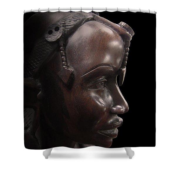 Makonde Tribe Woman Shower Curtain