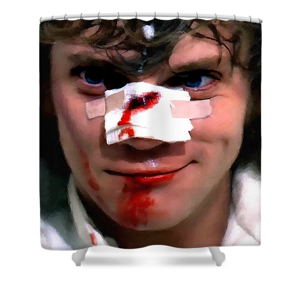 Malcolm Mcdowell As Alex In The Film Clockwork Orange By Stanley Kubrick 1971 Shower Curtain