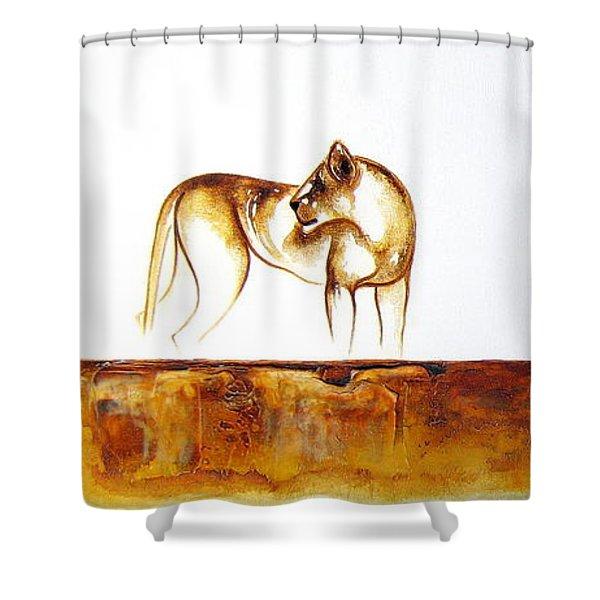 Lioness - Original Artwork Shower Curtain