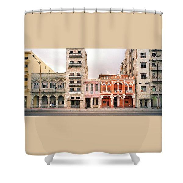 Malecon In Havana Shower Curtain