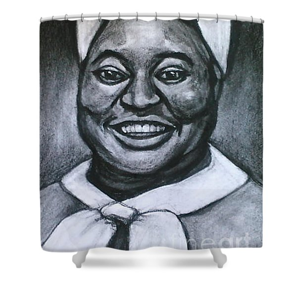 Shower Curtain featuring the drawing Hattie by Gabrielle Wilson-Sealy