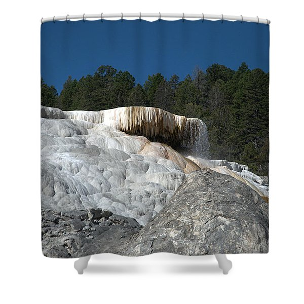 Mammoth Hot Springs 1 Shower Curtain