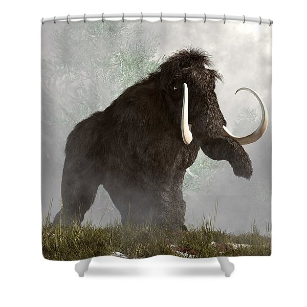 Mammoth In The Fog Shower Curtain