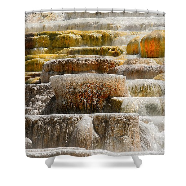 Mammoth Springs Shower Curtain