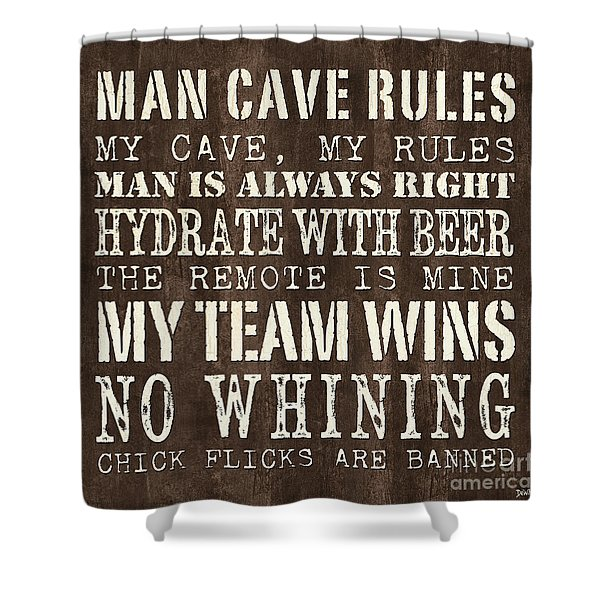 Man Cave Rules 1 Shower Curtain