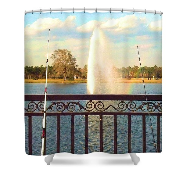 Man Made Rainbow Shower Curtain