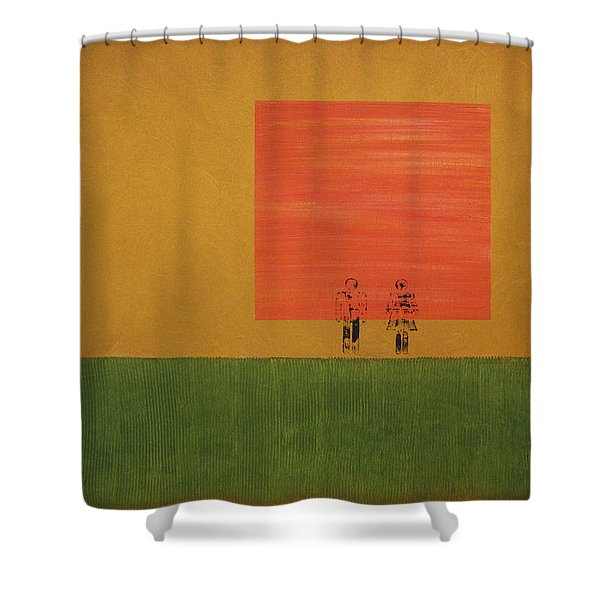 Man On The Brink Shower Curtain