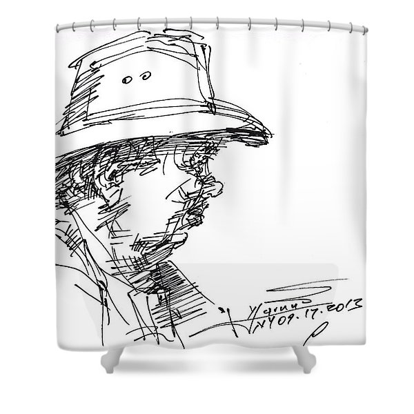 Man With A Hat Shower Curtain
