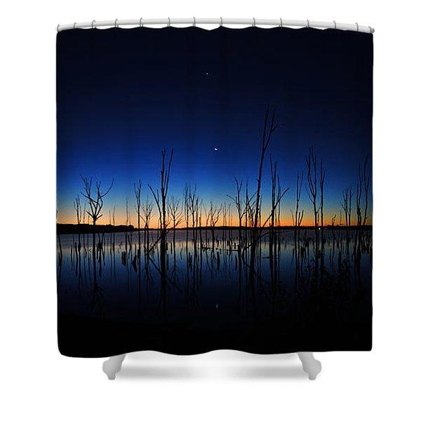 Manasquan Reservoir At Dawn Shower Curtain
