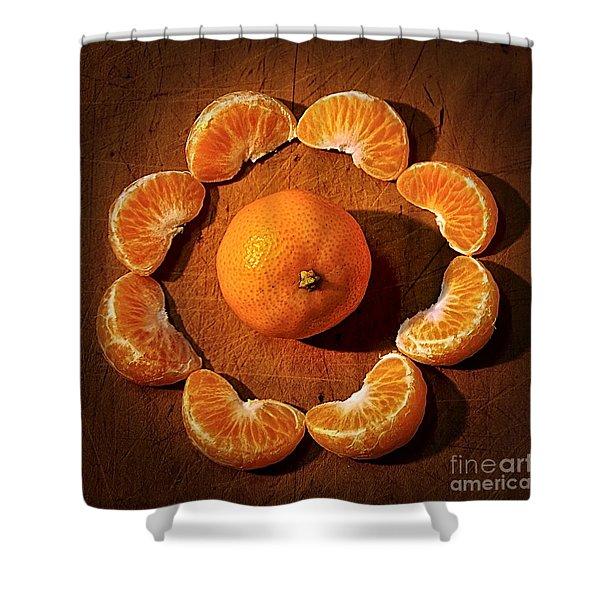 Mandarin - Vignette Shower Curtain
