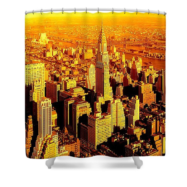 Manhattan And Chrysler Building Shower Curtain