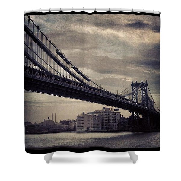 Manhattan Bridge In Ny Shower Curtain
