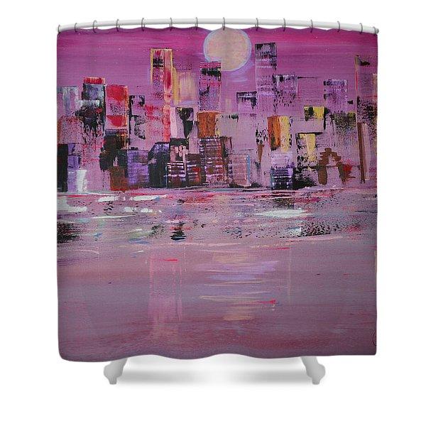 Manhattan Moonshine Shower Curtain