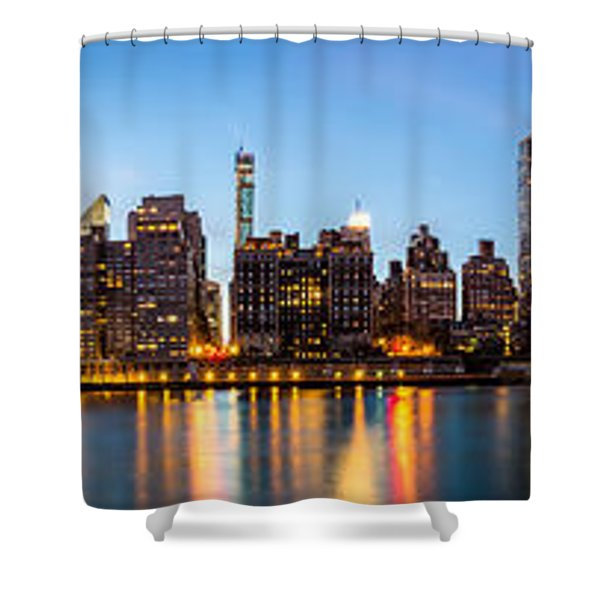 Manhattan Panorama And Queensboro Bridge Shower Curtain