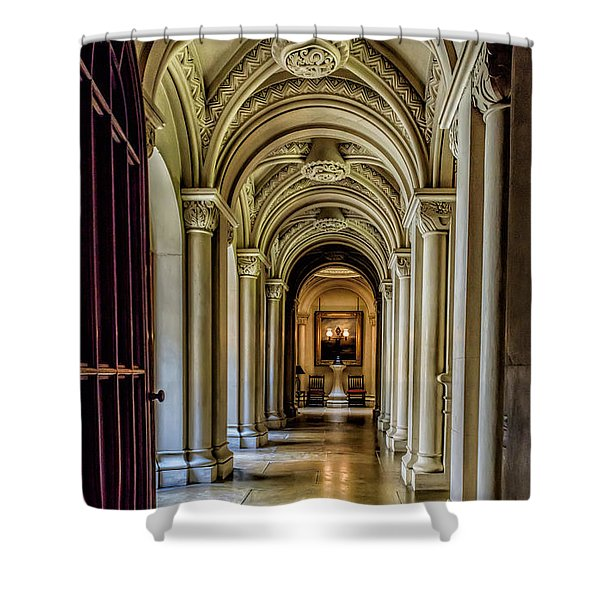 Mansion Hallway Shower Curtain