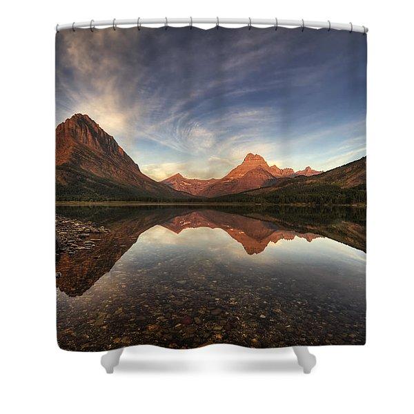 Many Glacier Zen Shower Curtain
