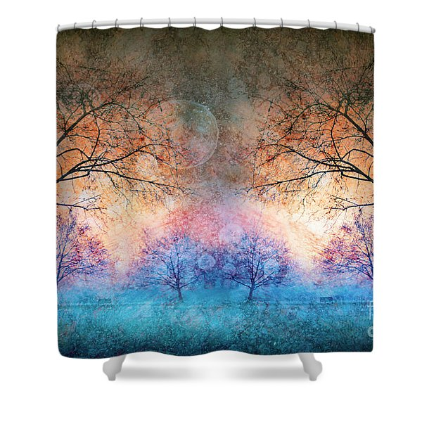 Many Moons Shower Curtain