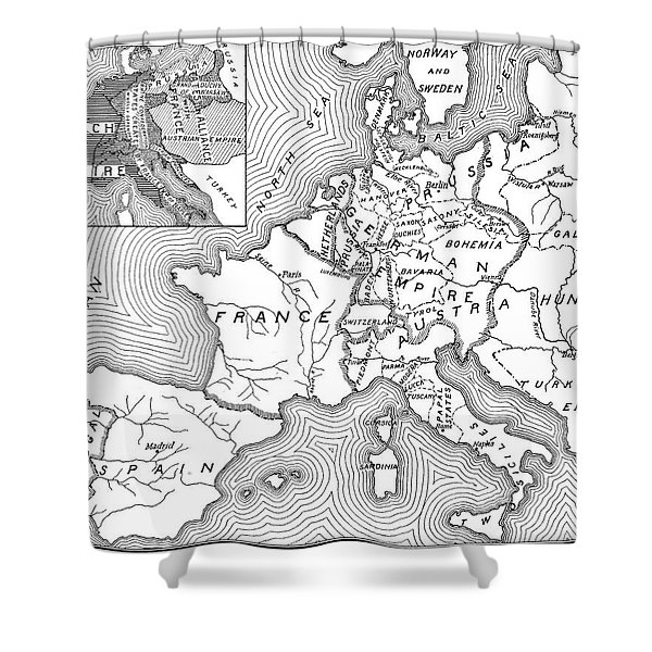 Map Of Europe, 1812-1815 Shower Curtain