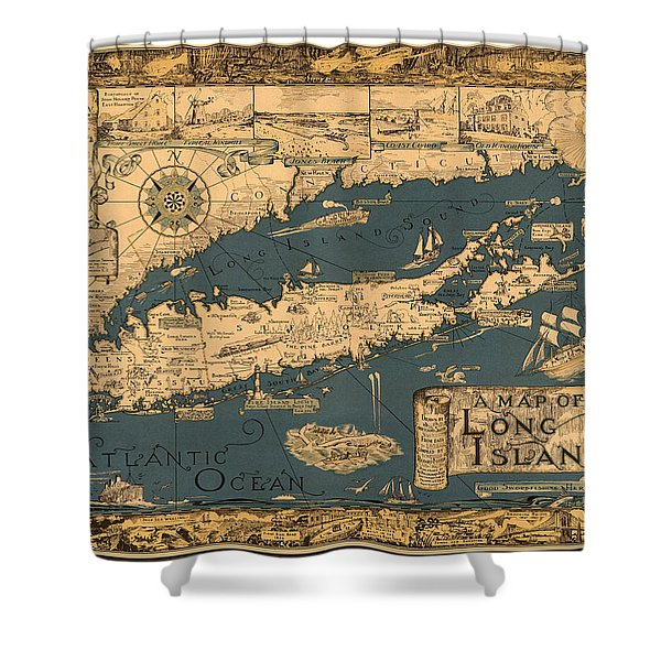 Map Of Long Island Shower Curtain