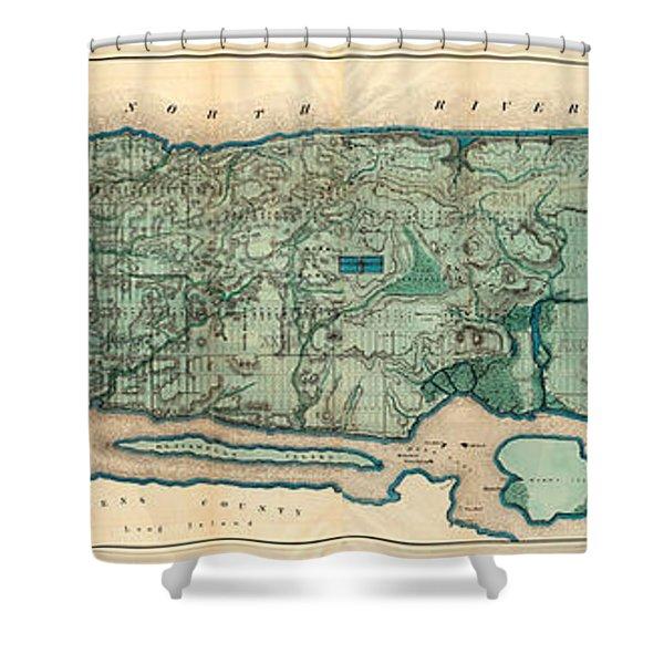 Map Of Manhattan Shower Curtain