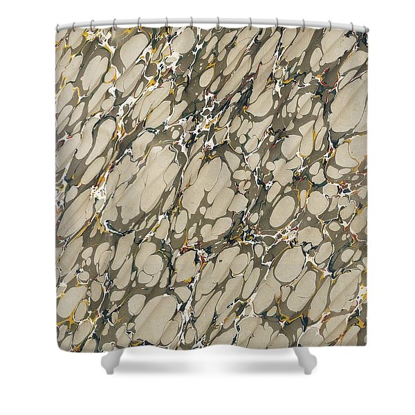 Marble Endpaper Shower Curtain