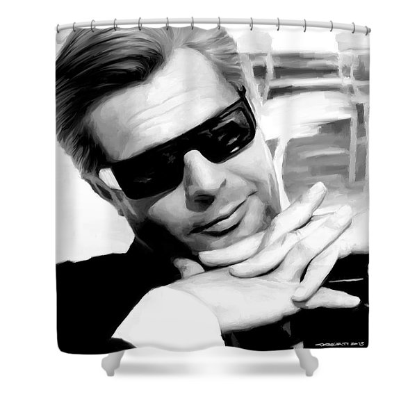 Marcello Mastroianni Portrait Shower Curtain