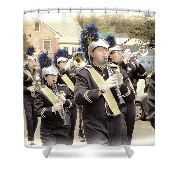 Marching Band - Shepherd University Ram Band At Homecoming 2012 Shower Curtain