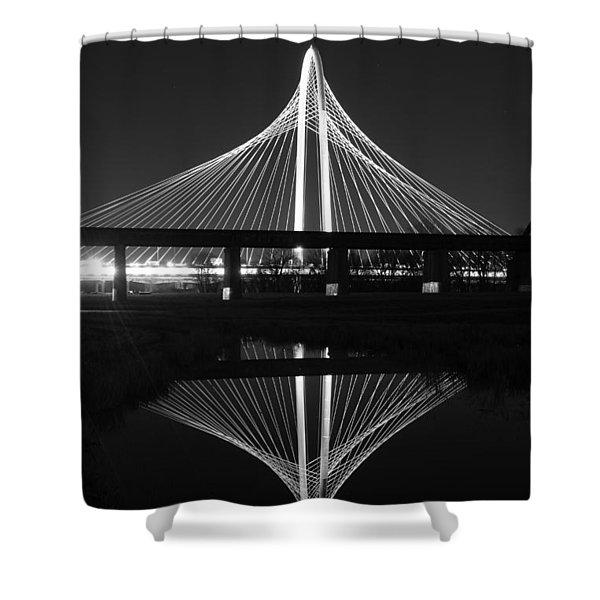 Margaret Hunt Hill Bridge Reflection Shower Curtain