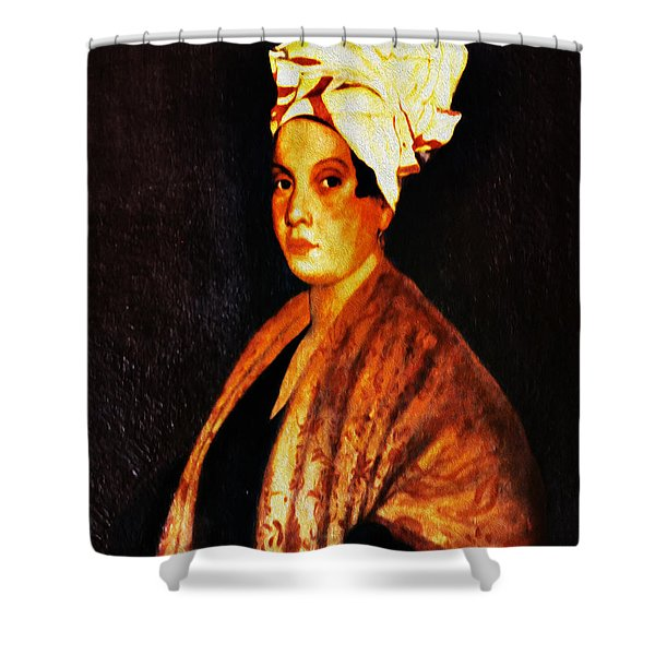 Marie Laveau - New Orleans Witch Shower Curtain
