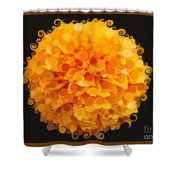 Marigold Magic Abstract Flower Art Shower Curtain
