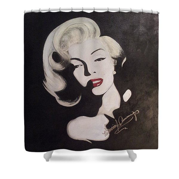 Marilyn In The Moonlight Shower Curtain