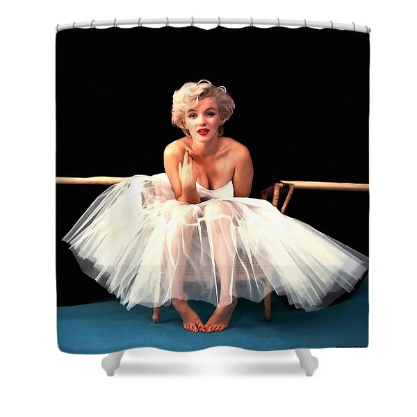 Marilyn Monroe Portrait Shower Curtain