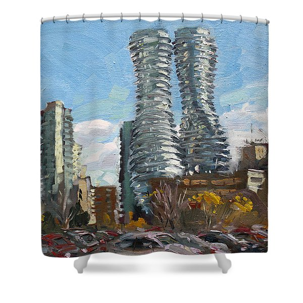 Marilyn Monroe Towers In Mississauga Shower Curtain