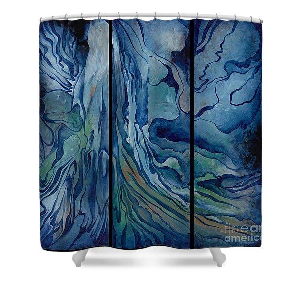 Marina Triptych Shower Curtain