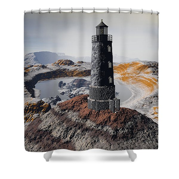 Marine Memory - Surrealism Shower Curtain