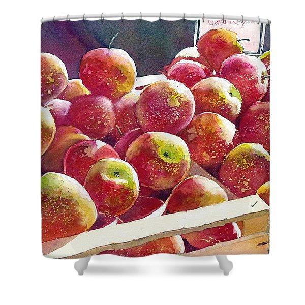 Market Apples Shower Curtain