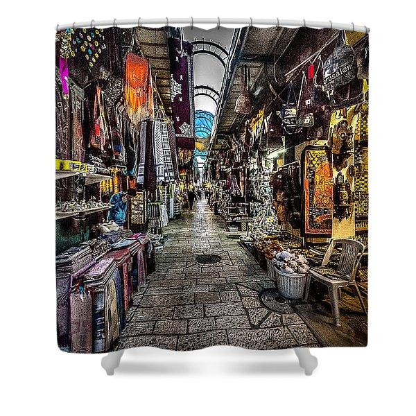 Market In The Old City Of Jerusalem Shower Curtain