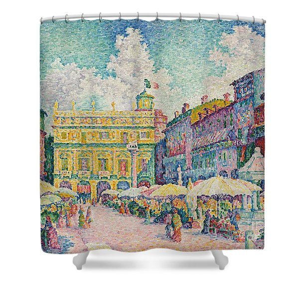 Market Of Verona Shower Curtain