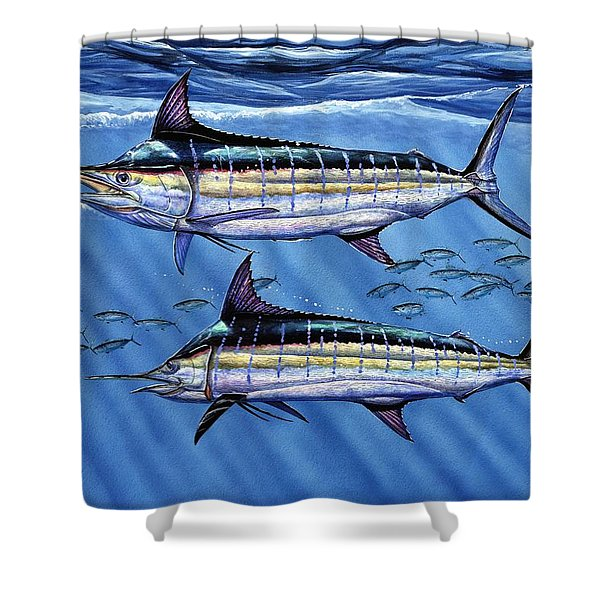 Marlins Twins Shower Curtain