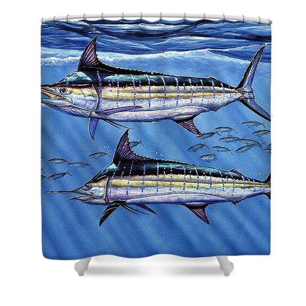 Marlins Twins Shower Curtain