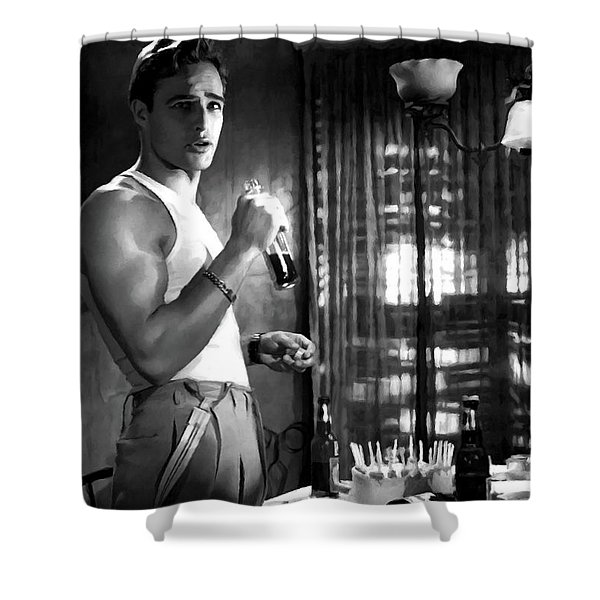 Marlon Brando @ A Streetcar Named Desire Shower Curtain