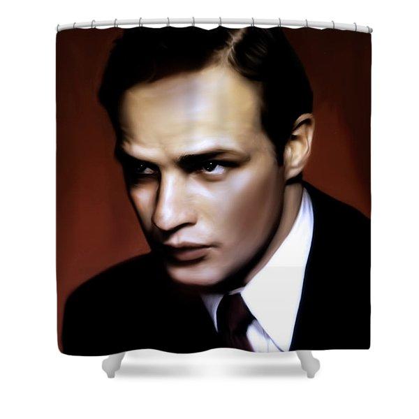 Marlon Brando Tribute Shower Curtain