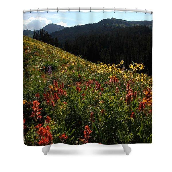 Maroon Bells Wilderness Shower Curtain