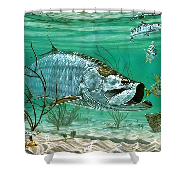 Marquesas Keys Tarpon Shower Curtain