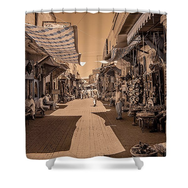 Marrackech Souk At Noon Shower Curtain