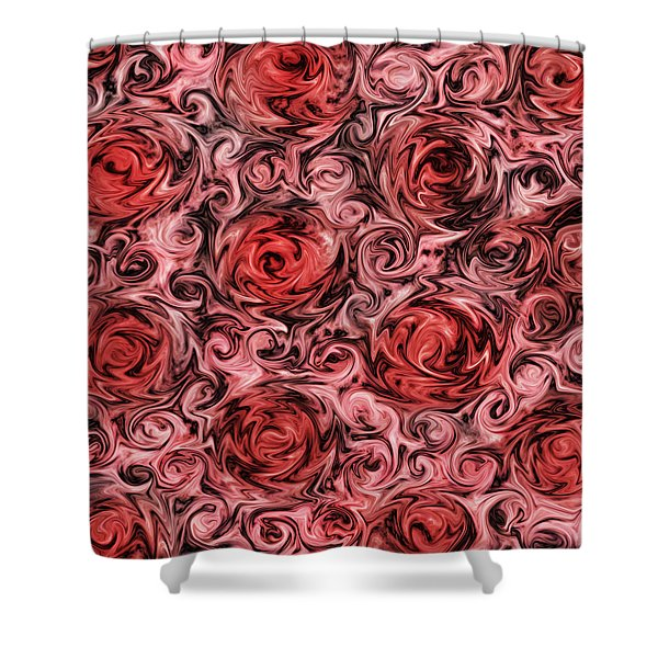 Marsala Roses Shower Curtain