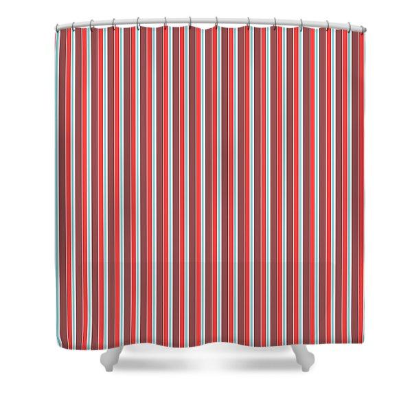 Marsala Stripe 2 Shower Curtain