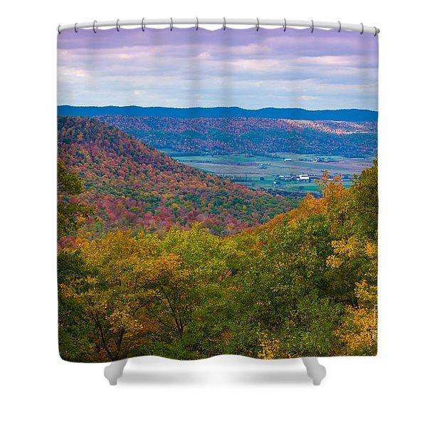 Martin Hill Foliage Shower Curtain