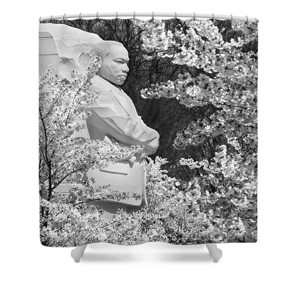 Martin Luther King Memorial Through The Blossoms Shower Curtain